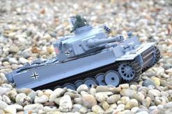 ferngesteuerter panzer schuss heng long tank german tiger 1 upgrade version 6.0 metallgetriebe -7