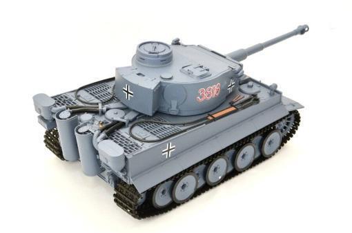 ferngesteuerter panzer schuss heng long tank german tiger 1 upgrade version 6.0 metallgetriebe -9