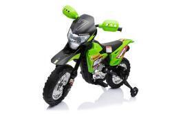 Kindermotorrad elektro Cross gruen -1
