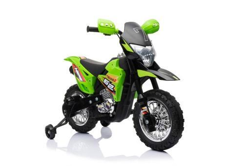 Kindermotorrad elektro Cross gruen -2