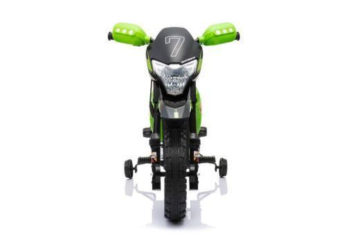 Kindermotorrad elektro Cross gruen -3