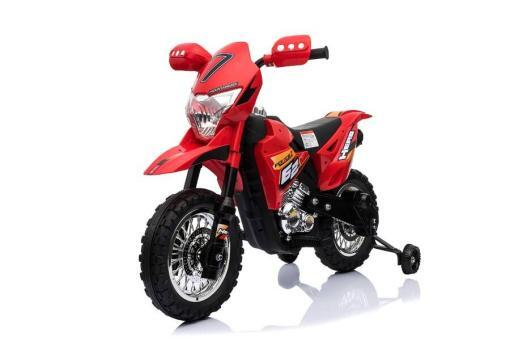 Kindermotorrad elektro Cross rot-1