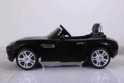 elektro kinderauto lizenziert von bmw z8 oldtimer schwarz - 2