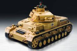 """Ferngesteuerter Panzer """"Kampfwagen IV Ausf.F-1"""" Heng Long 1:16 Sandfarbe mit Rauch,Sound und Schuss, Metallgetriebe -2,4Ghz -PRO-1"""