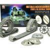 Aufrüstungssatz für Panzer: Metallkettenset für Heng Long Sturmgeschütz