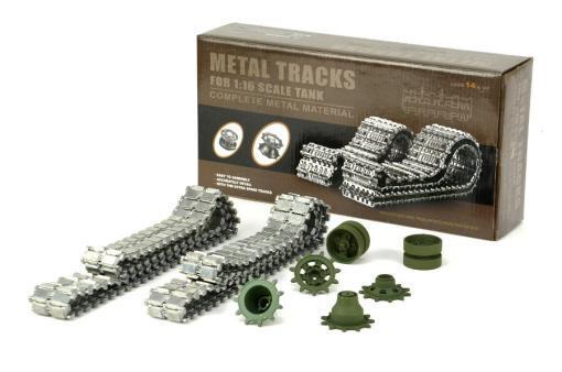 Aufrüstungssatz für Panzer: Metallkettenset für Heng Long Leopard2 A6