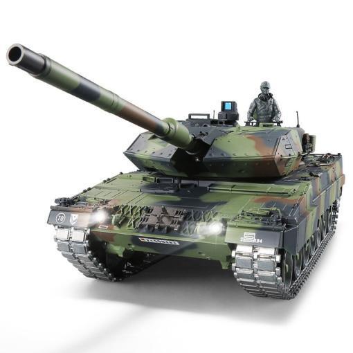 ferngesteuerter panzer leopard 2a6 deutsch pro mit metallgetriebe und metallketten - 2