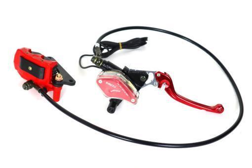Bremssystem vorne für E-Scooter Chopper: Bremshebel, Bremsschlauch, Bremssattel, Bremsbeläge, Bremsflüssigkeit usw.-1